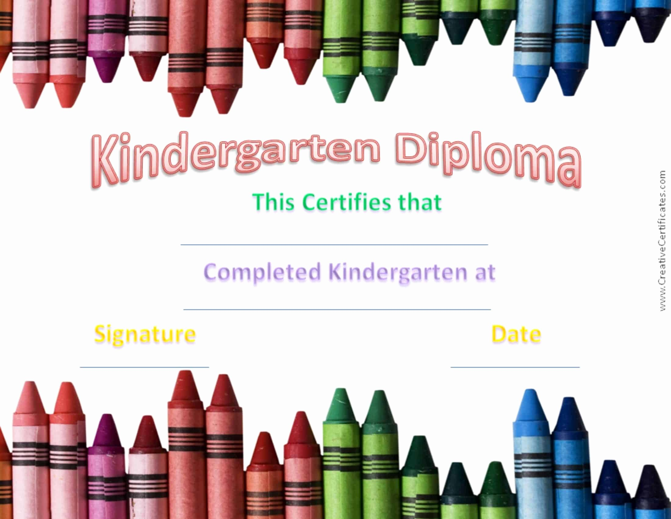 Preschool Graduation Certificate Template Unique Free Custom Kindergarten Graduation Certificates
