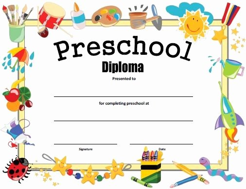 Preschool Graduation Certificate Template Unique Free Printable Preschool Diploma Graduation