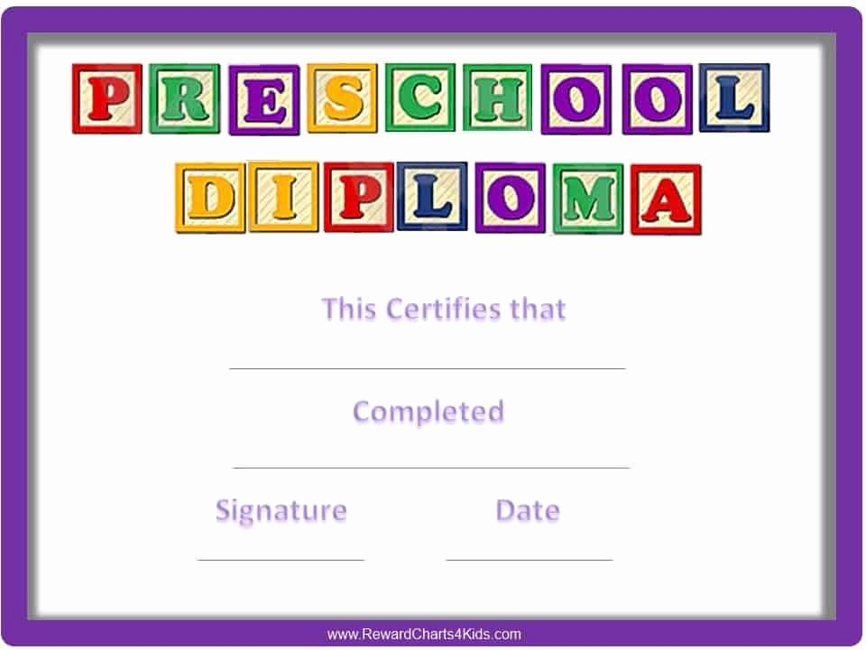 Preschool Graduation Certificate Template Unique Preschool Certificates