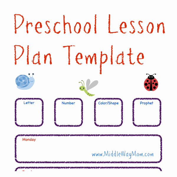 Preschool Lesson Plan Template Awesome Preschool Lesson Plan Template