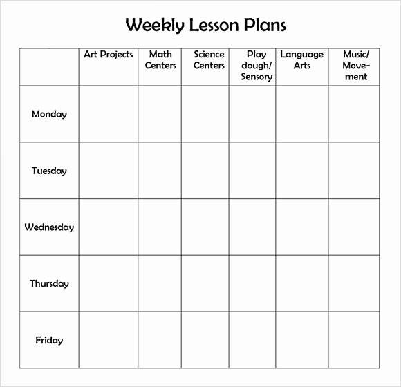 Preschool Lesson Plan Template Beautiful 9 Sample Weekly Lesson Plans