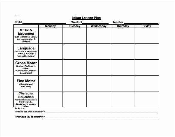 Preschool Lesson Plan Template Fresh 21 Preschool Lesson Plan Templates Doc Pdf Excel