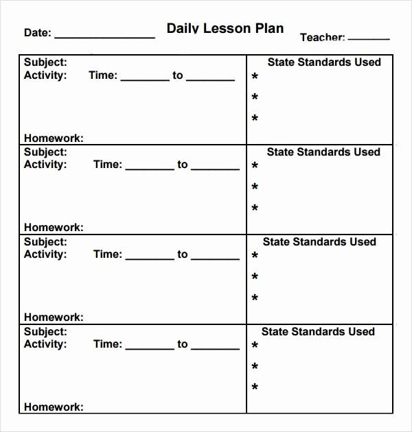 Preschool Lesson Plan Template Inspirational Preschool Lesson Plan Template 7 Download Free