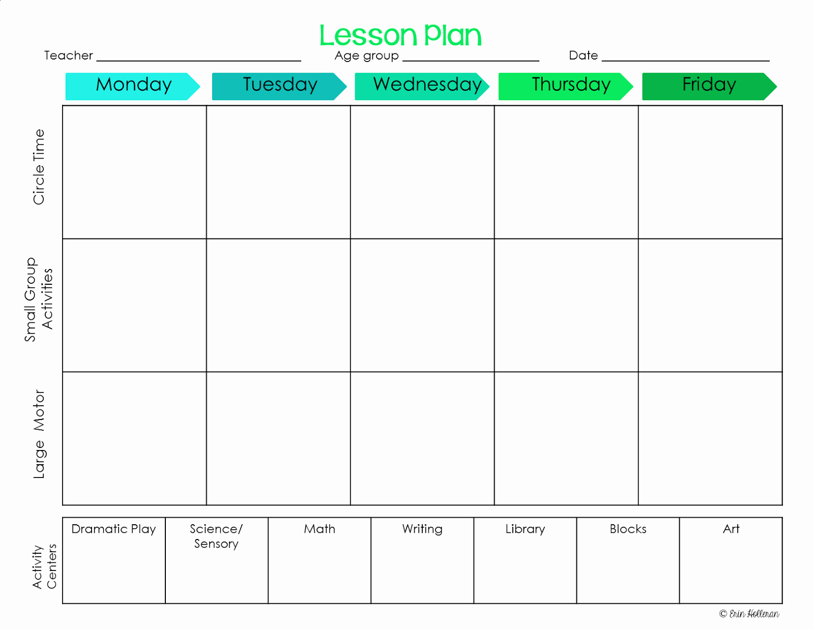Preschool Lesson Plans Template Awesome Elegant Free Printable Preschool Lesson Plan Template