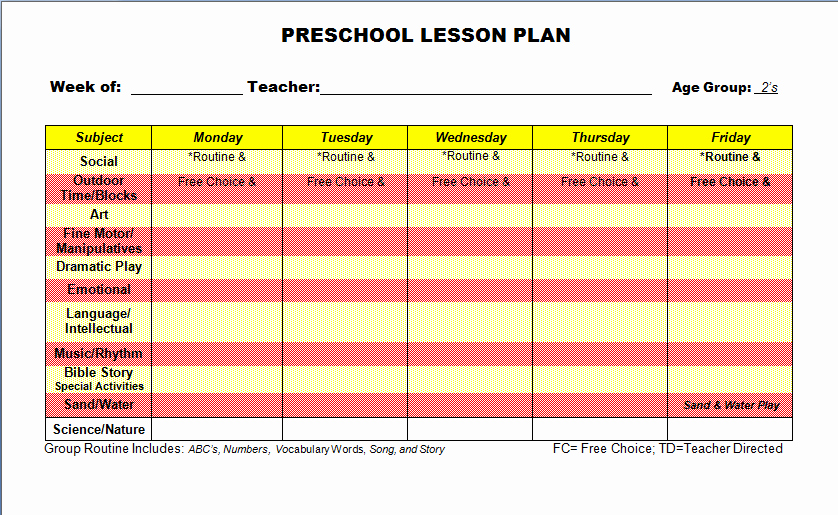 Preschool Lesson Plans Template Beautiful Need A Weekly Lesson Plan for Preschool Studyclix Web