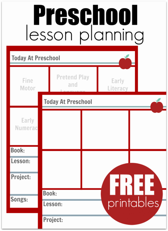 Preschool Lesson Plans Template New Must Read Advice for New Preschool Teachers No Time for