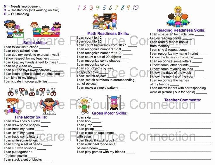 Preschool Progress Report Template Awesome Image Result for Preschool Progress Report Sample