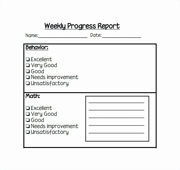 Preschool Progress Report Template Inspirational Preschool Report Planet Details File format Weekly