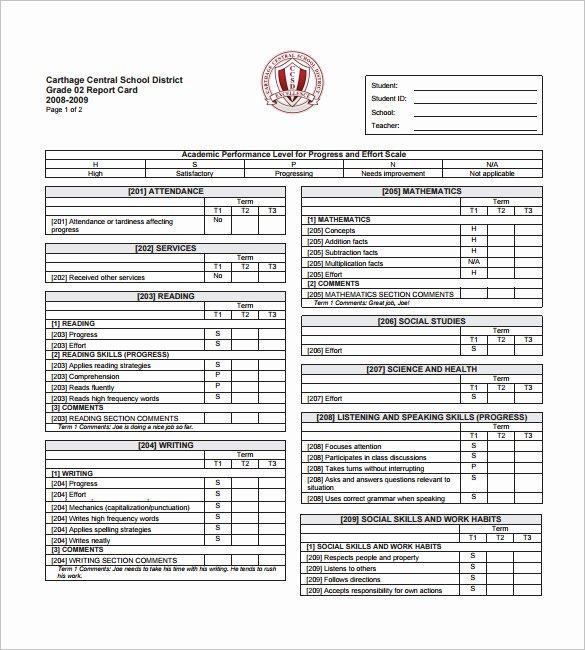 Preschool Progress Report Template Unique 26 Progress Report Card Templates Google Doc Pdf Psd