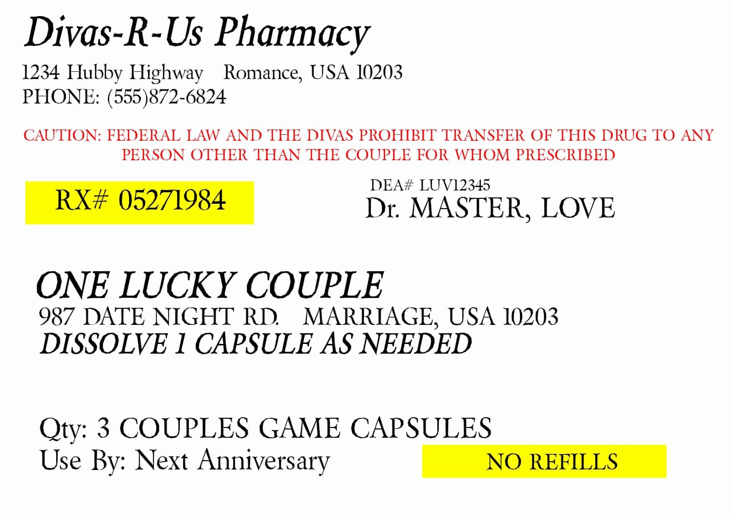 Prescription Bottle Label Template Best Of Prescription for Fun A Free Printable Romance Idea