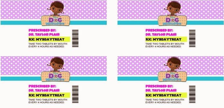 Prescription Bottle Label Template Unique Doc Mcstuffins Pill Bottle Instructions