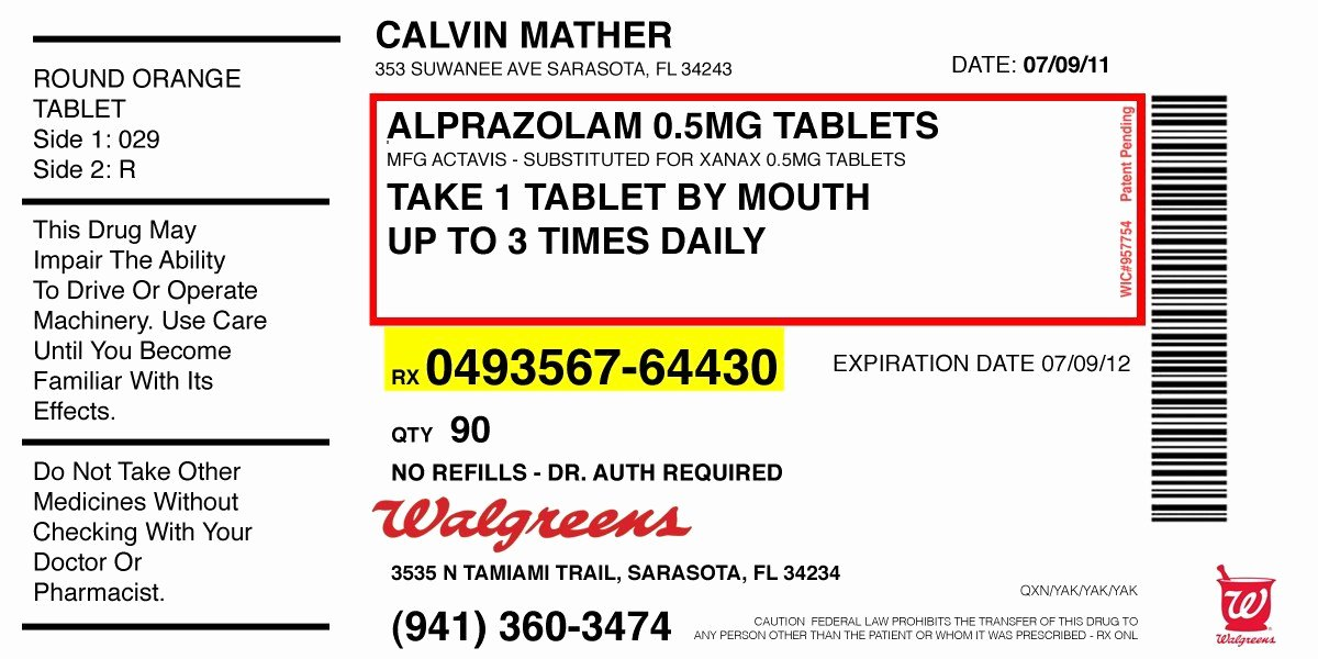 Prescription Bottle Label Template Unique Medicine Label Template