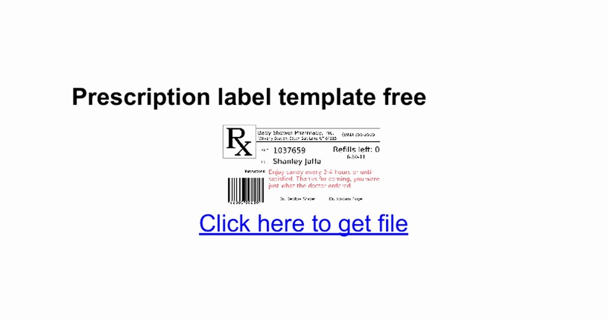 Prescription Bottle Label Template Unique Quill Label Templates for Word Best Avery 5523 Template