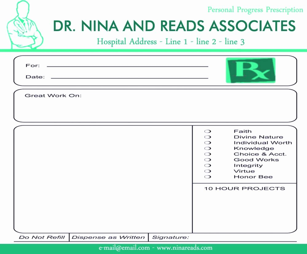 blank prescription pad image sample
