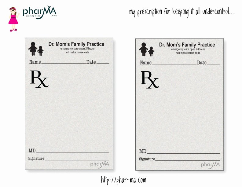 Prescription Pad Template Free Luxury Dr Mom S Prescription Pad the Pharma