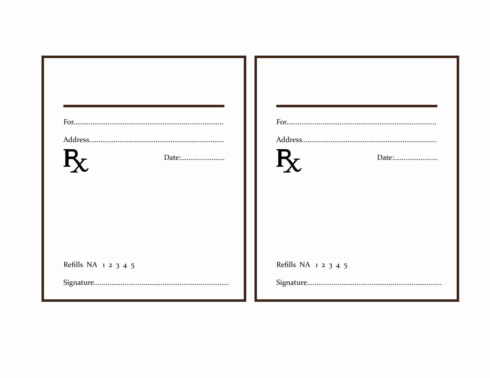 Prescription Pad Template Free New the Delight Of Paper