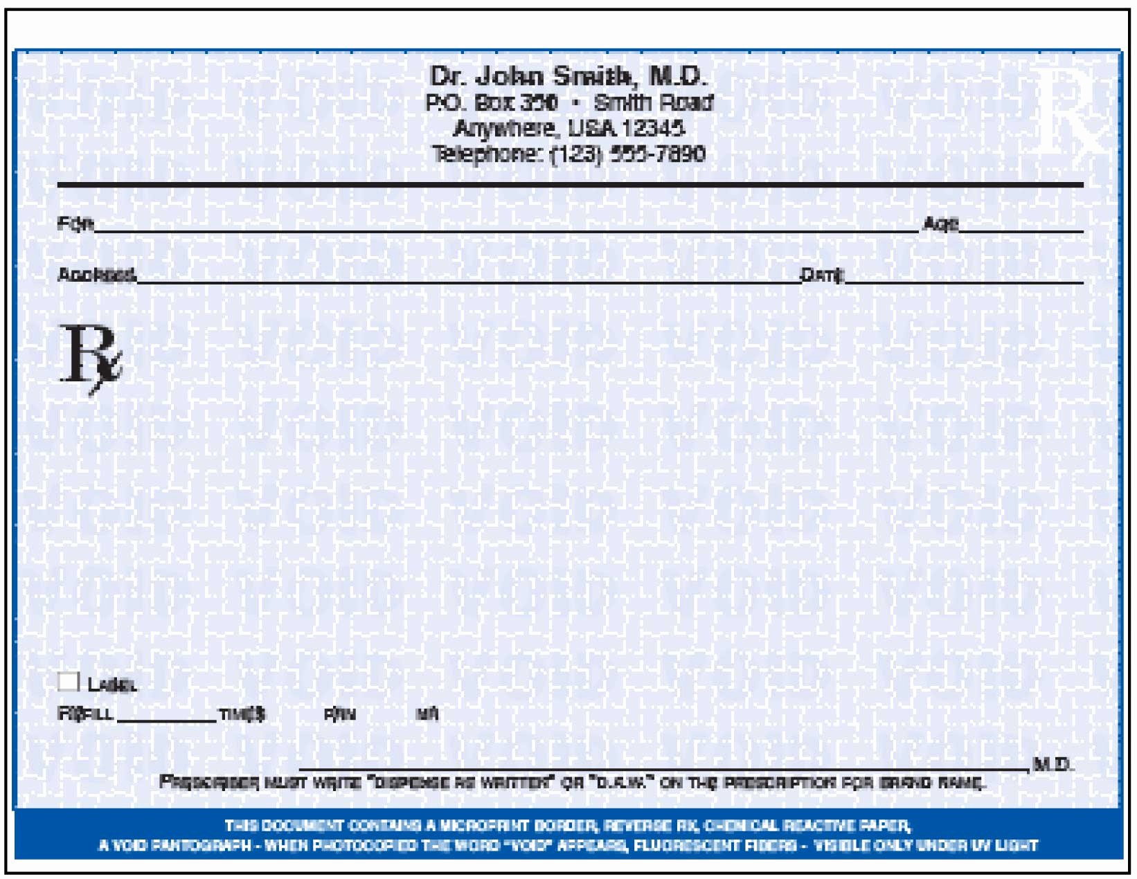 Prescription Template Microsoft Word Unique Rx Template Free Templates Data