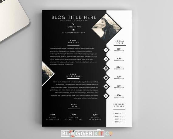 Press Kit Template Word Awesome E Page Media Kit Template Press Kit Template by Bloggerkitco