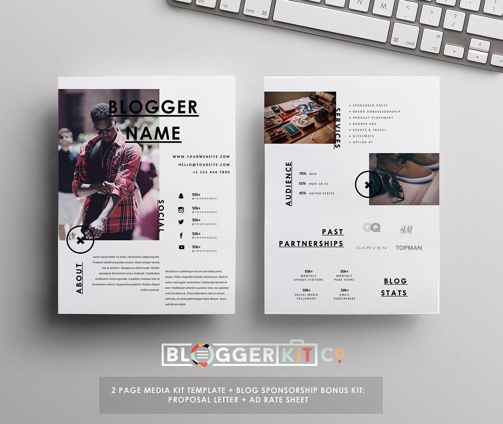 Press Kit Template Word Awesome Media Kit Sponsorship Set