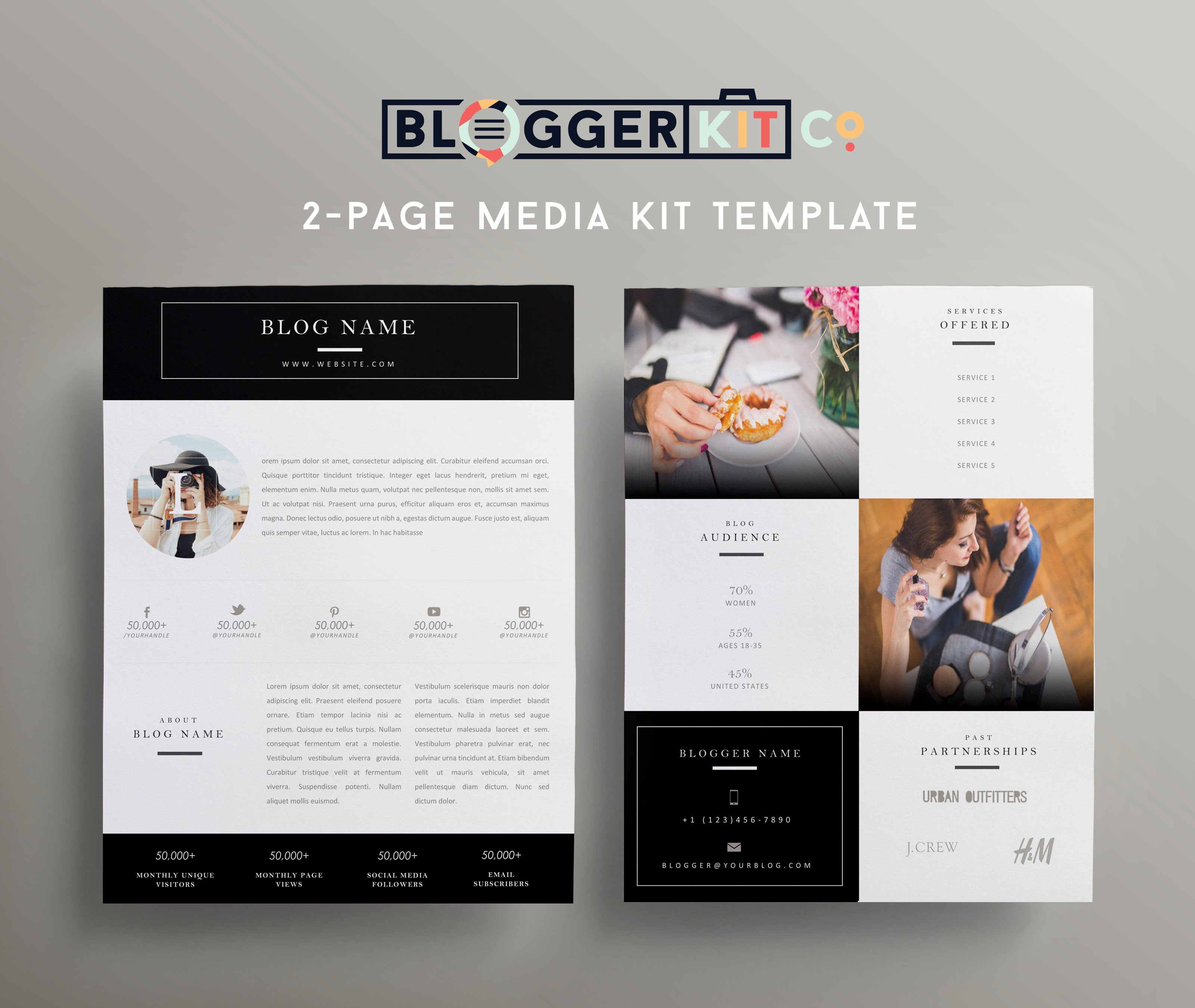 Press Kit Template Word Beautiful Beauty Blogger Pink Media Kit Template