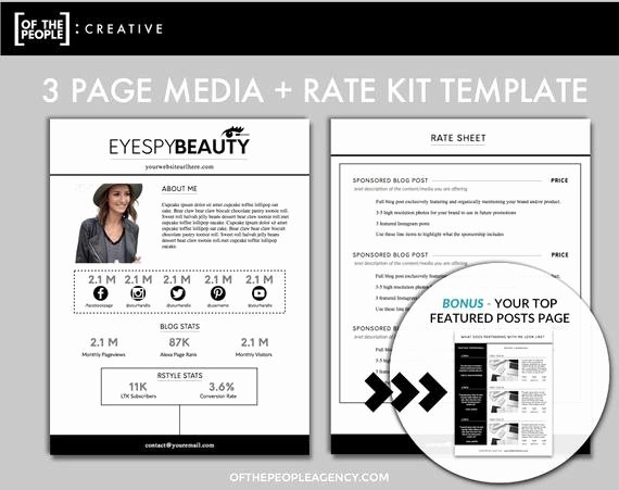 Press Kit Template Word Fresh 3 Page Media Kit Template