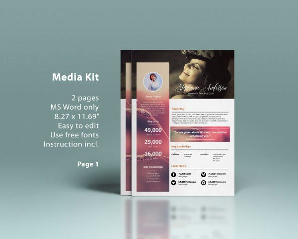 Press Kit Template Word Inspirational Media Kit Template 20 Free Psd Ai Eps format Download