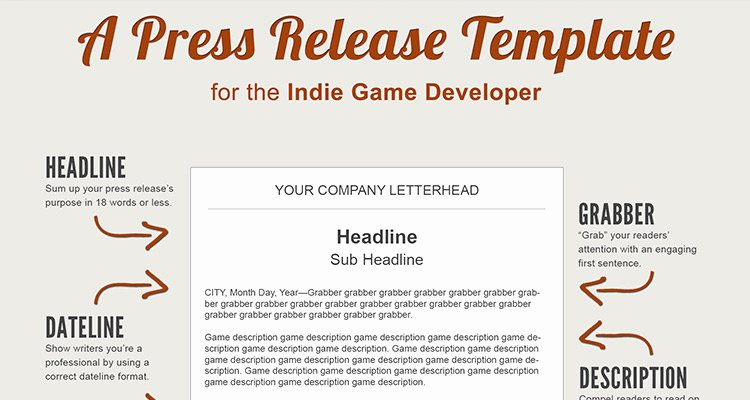 Press Kit Template Word Lovely A Press Release Template Perfect for the In Game Developer