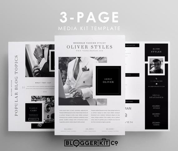 Press Kit Template Word New Three Page Media Kit Template Press Kit Template by