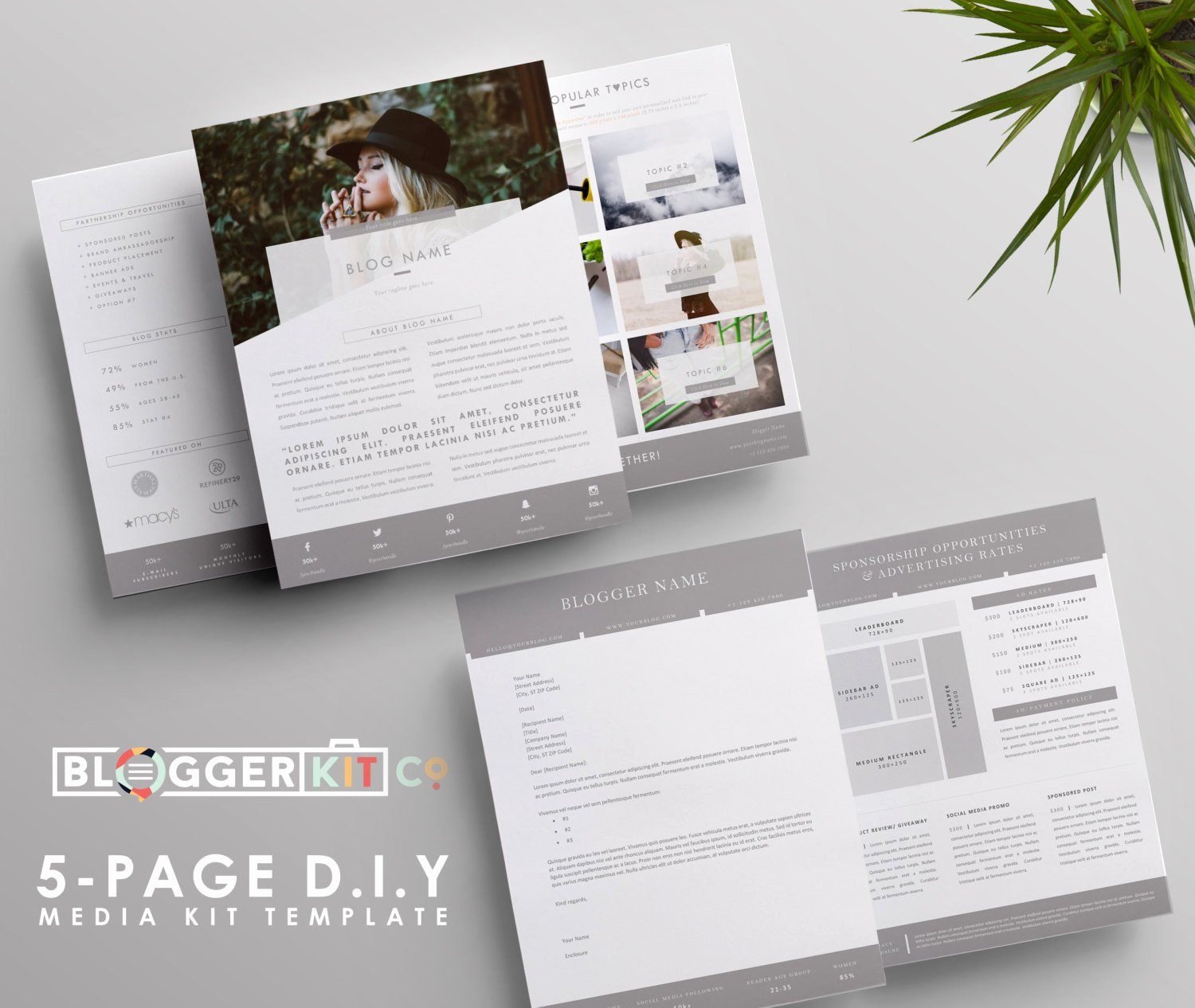 Press Kit Template Word Unique Blog Sponsorship Proposal Letter Template Ad Rate Sheet