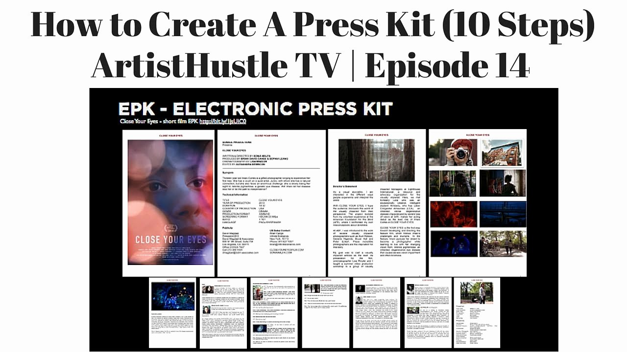 Press Kit Template Word Unique How to Create A Press Kit for Musicians