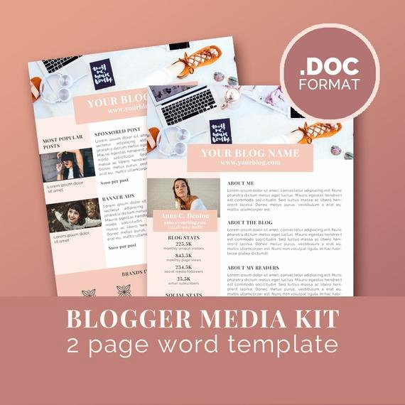 Press Kit Template Word Unique Media Kit Template Blog Marketing Kit Word Template Press