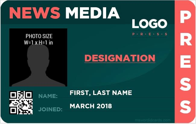 Press Pass Template Free Awesome 10 Best Press Reporter Id Card Templates