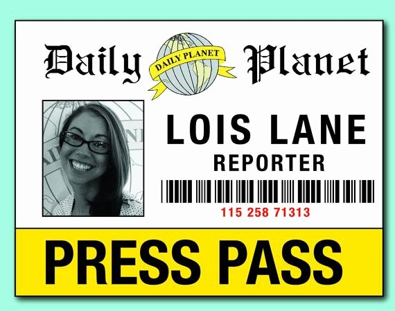 Press Pass Template Free Best Of Items Similar to Digital File Lois & Clark Press Pass
