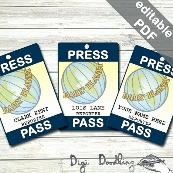 Press Pass Template Free Inspirational Best Press Reporter Id Card Templates Word Template Pass