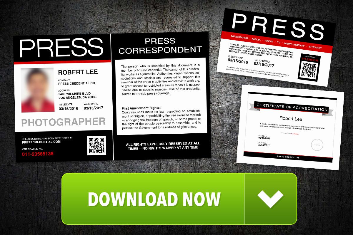 Press Pass Template Free Lovely Press Pass Template