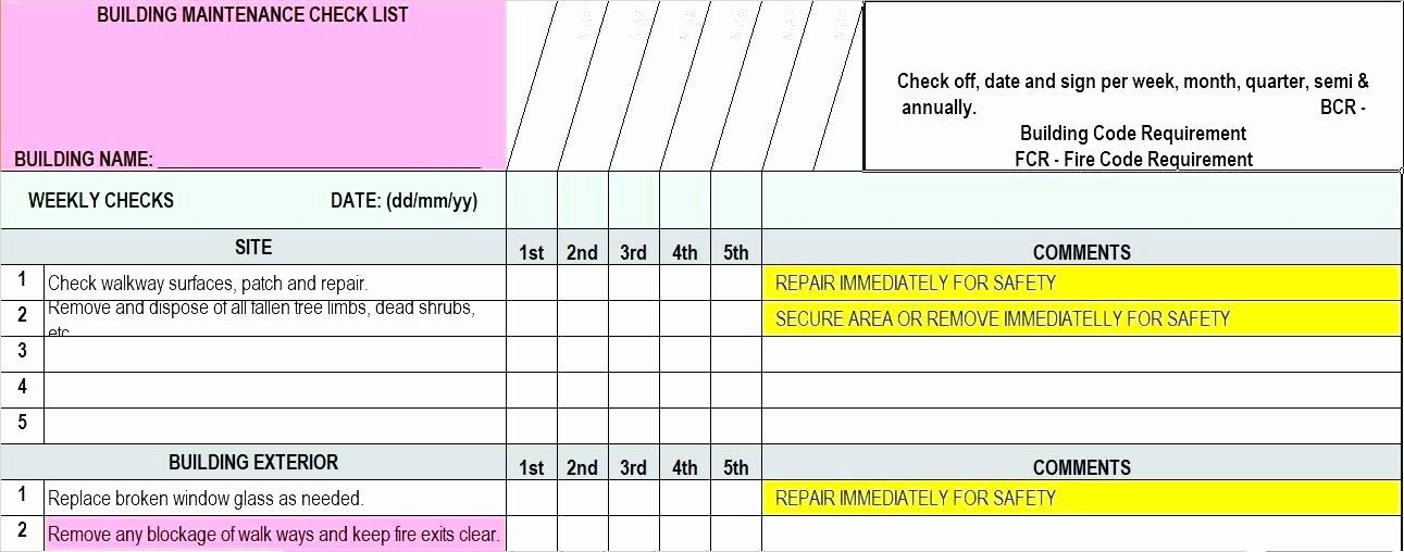 Preventive Maintenance Excel Template Elegant the Ppm Calendar E Quip asset Management software the