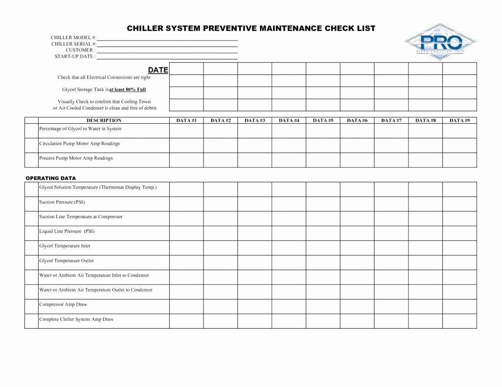 Preventive Maintenance Excel Template Luxury Preventive Maintenance Spreadsheet Spreadsheet softwar