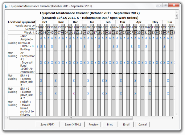 Preventive Maintenance Excel Template Unique Use Maintenance Calendars In Your Preventive Maintenance
