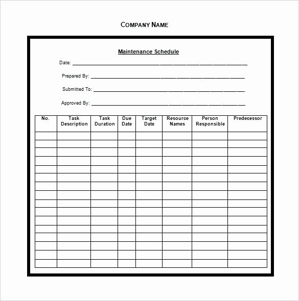 Preventive Maintenance form Template Inspirational Truck Inspection Checklist Template form – Vraccelerator