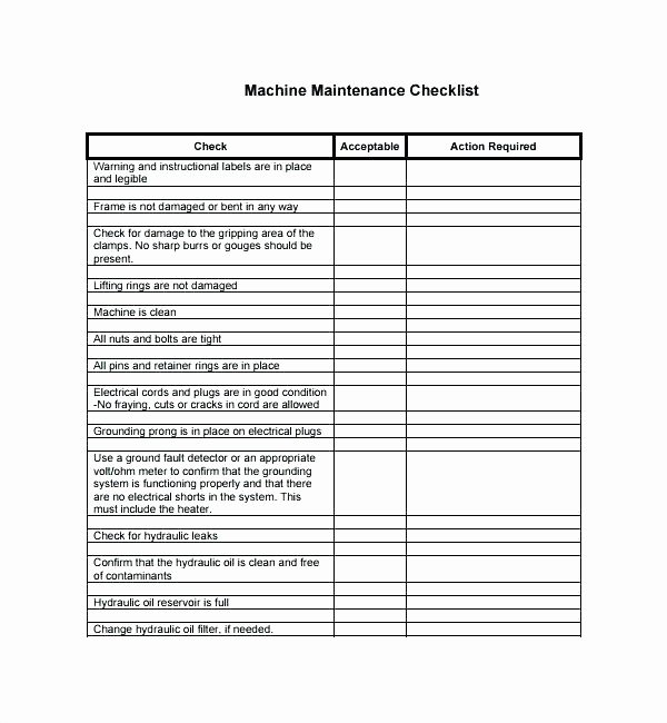 Preventive Maintenance form Template Luxury Preventative Maintenance Checklist Template – Preinsta