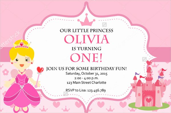 Princess Party Invitation Template Best Of 11 Princess Party Invitations Jpg Psd Ai