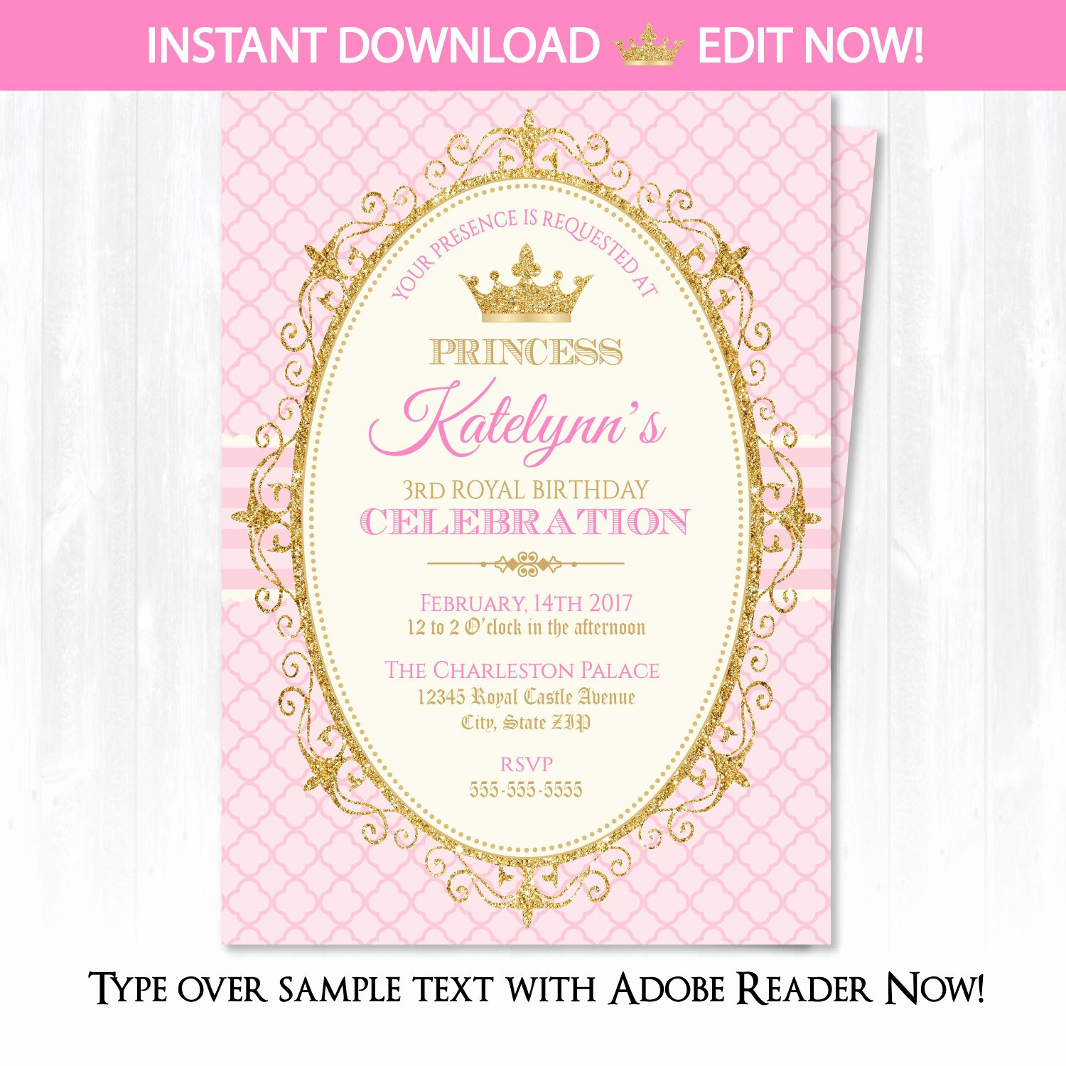 Princess Party Invitation Template Best Of Princess Invitations Princess Birthday Party Invitations