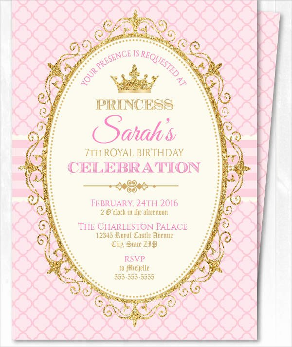 Princess Party Invitation Template Luxury 18 Beautiful Princess Invitations Psd Ai