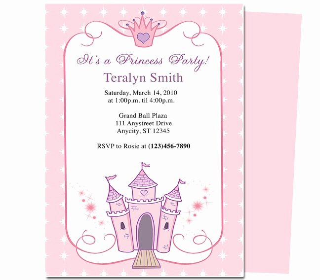 Princess Party Invitation Template Luxury 23 Best Images About Kids Birthday Party Invitation