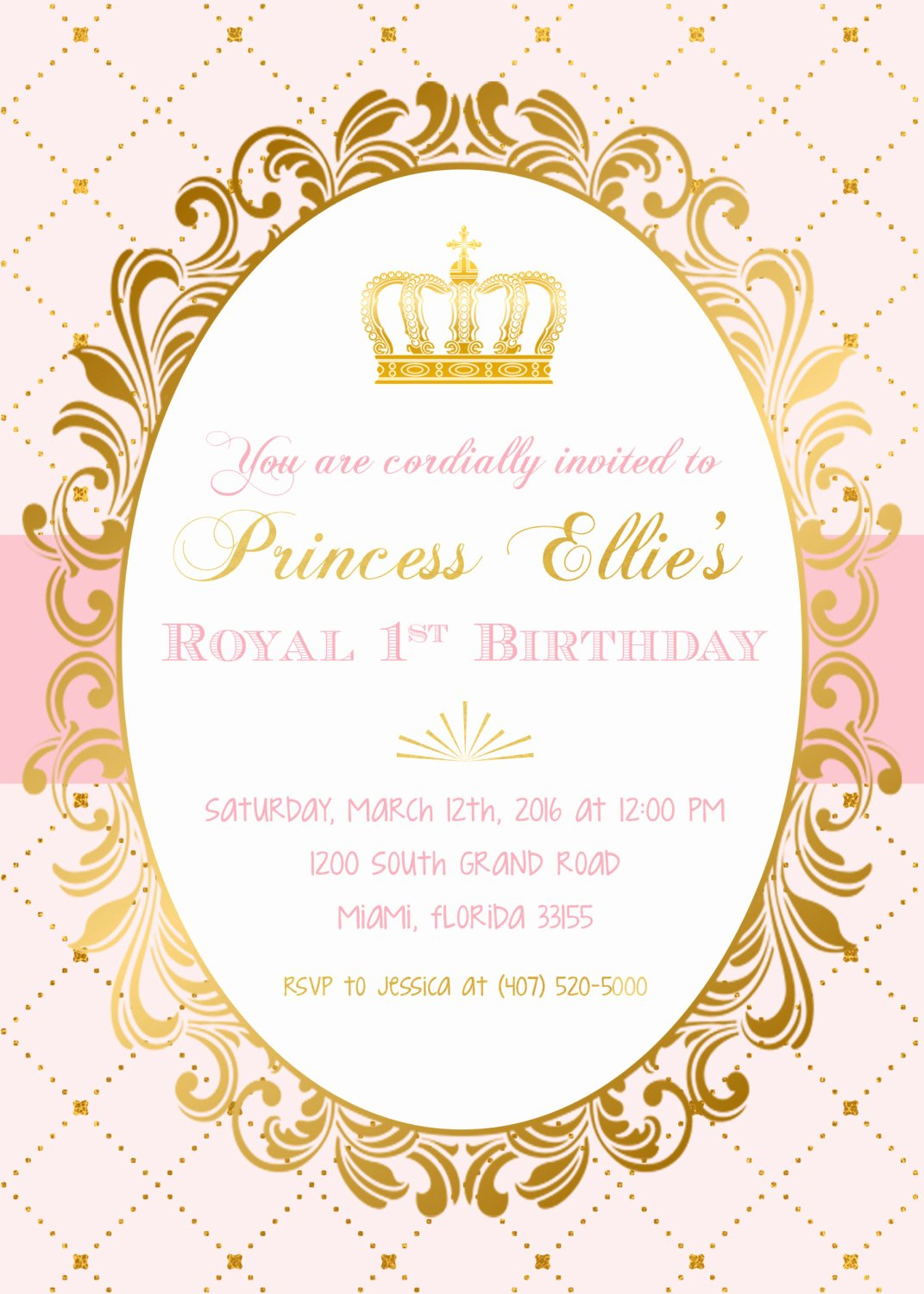 Princess Party Invitation Template Luxury Princess Birthday Invitation Princess Invitation Pink