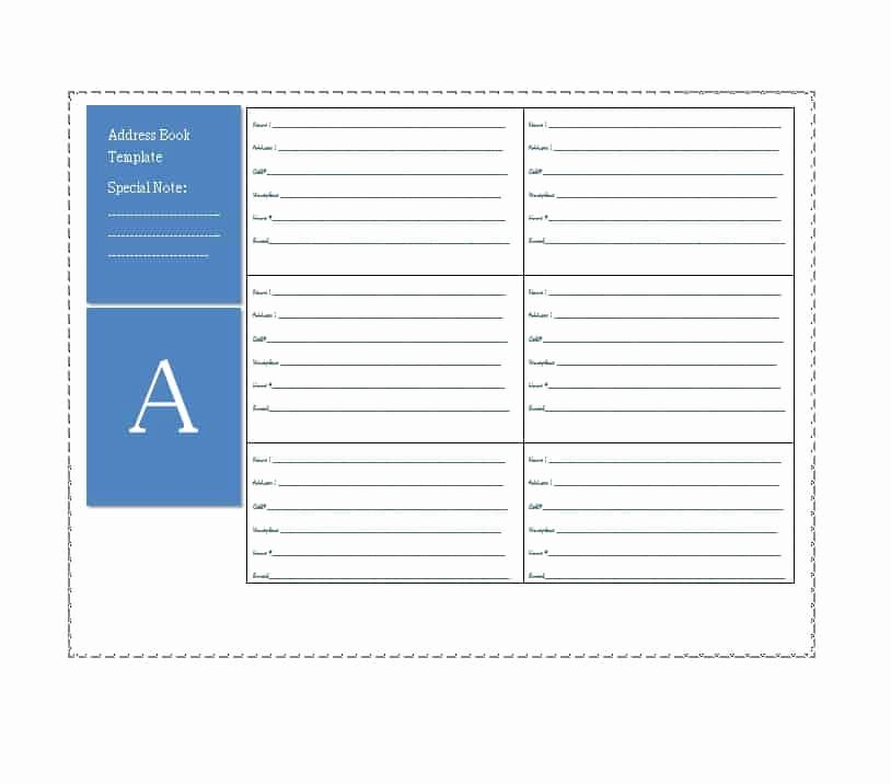 Printable Address Book Template Elegant 40 Printable & Editable Address Book Templates [ Free]