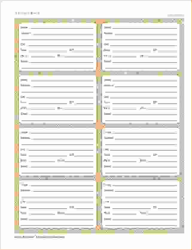 Printable Address Book Template Lovely Printable Address Book Procedure Template Sample