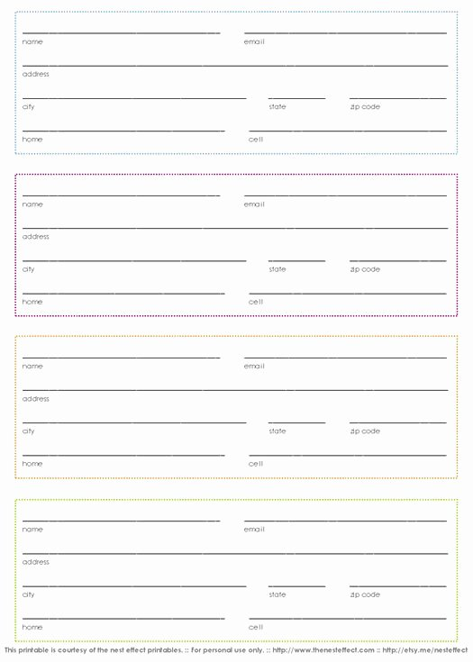 Printable Address Book Template Luxury Pinterest • the World's Catalog Of Ideas