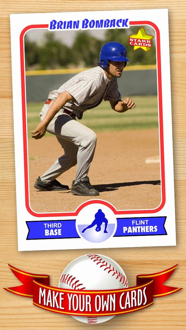 Printable Baseball Card Template Lovely Free Baseball Card Template — Create Personalized Sports