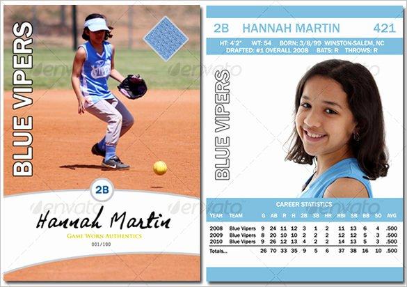 Printable Baseball Card Template Luxury Baseball Card Template – 9 Free Printable Word Pdf Psd